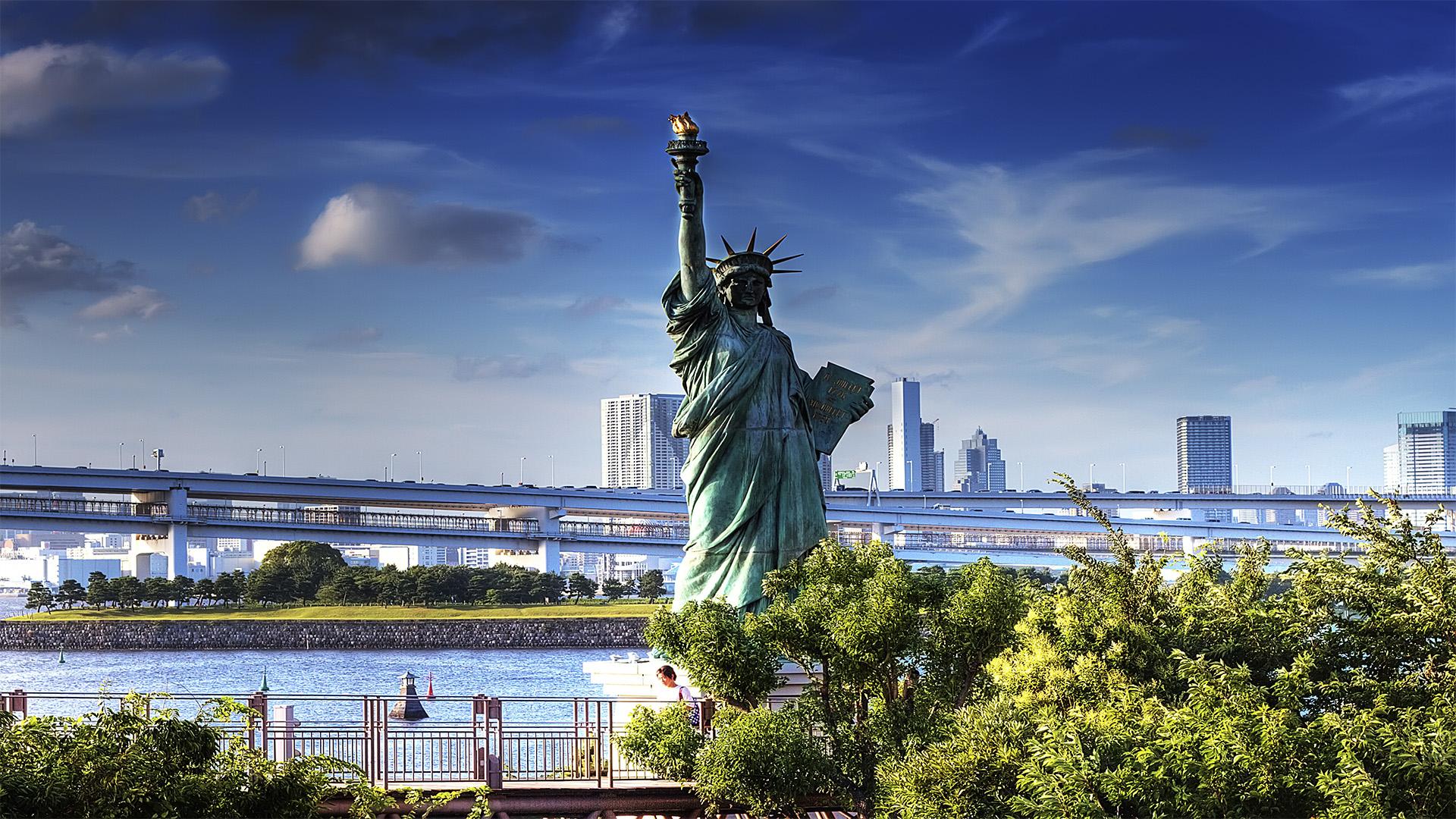 odaiba statue liberty574630
